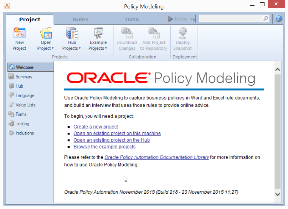 Oracle Policy Automation 2
