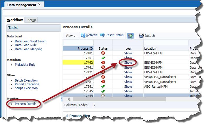 Oracle FDMEE Log Analysis