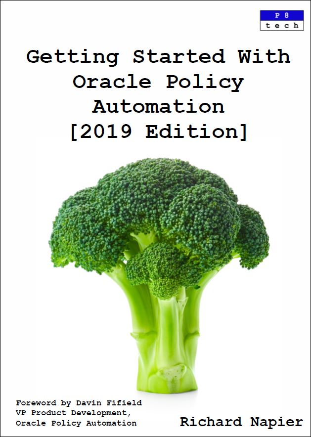 Oracle Policy Automation Modelling Book